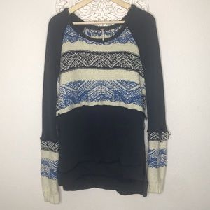 FREE PEOPLE sweater knit distressed